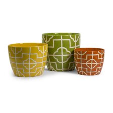 Ellis Graphic Planters (Set of 3)