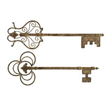 Chateau Key Wall Decor (Set of 2)