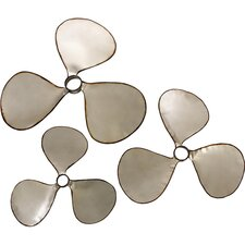 <strong>IMAX</strong> 3 Piece Pelham Propeller Wall Décor Set