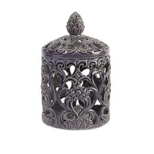 Tall Lidded Cutwork Box