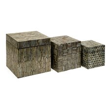 <strong>IMAX</strong> Jacobs Mother of Pearl Boxes (Set of 3)