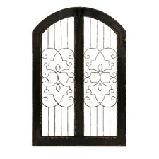 Amelia Iron and Wood Gate Wall Art