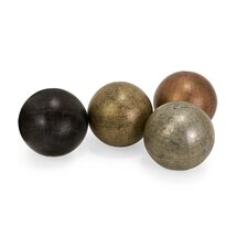 Globe Sphere (Set of 4)