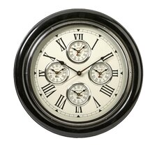 "Five Country 22"" Wall Clock"
