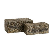 <strong>IMAX</strong> Omiska Rectangle Box (Set of 2)