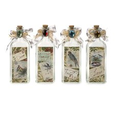 <strong>IMAX</strong> 4 Piece Postcard Greeting Decorative Bottle Set