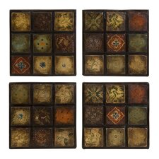 Barberry Handpainted Ceramic Wall Tiles (Set of 4)