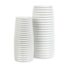 Daley Ribbed Vases (Set of 2)