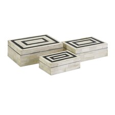 3 Piece Bella Bone Inlay Box Set