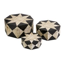 3 Piece Lanta Bone Inlay Box Set