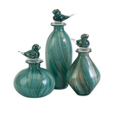 <strong>IMAX</strong> 3 Piece Bellatrix Bird Stopper Decorative Bottle Set