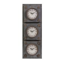 Gilbert Galvanized Triple Clock