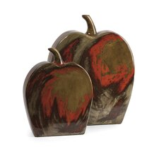 2 Piece Lancaster Apples Mexican Pottery Figurine