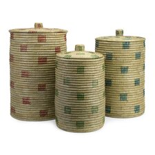 <strong>IMAX</strong> Afton Sea Grass Storage Basket (Set of 3)