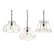 <strong>IMAX</strong> Crestly 1 Light Mini Pendant (Set of 3)