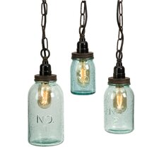 Lexington Mason 1 Light Jar Mini Pendant (Set of 3)