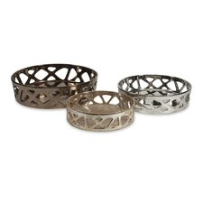 Geometric Cutwork Tray (Set of 3)