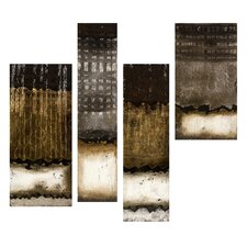 Metallics Study Oil Painting Wall Art (Set of 4)