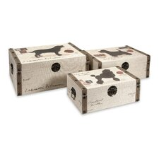 <strong>IMAX</strong> Pet Theme Storage Box (Set of 3)