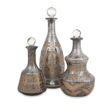 <strong>IMAX</strong> Acadia Glass Decanter (Set of 3)