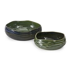 <strong>IMAX</strong> Cavalla Double Glaze Bowl (Set of 2)