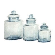 Cyprus Glass Canister (Set of 3)