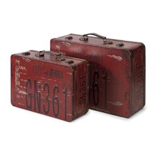 "Richmon 9.75"" Suitcase (Set of 2)"