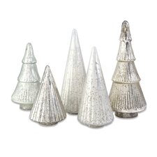 Woodland 5 Piece Mercury Glass Tree Set