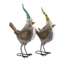 <strong>IMAX</strong> Woodland Vintage Metal Cardinals Statue (Set of 2)
