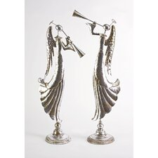 Woodland Musical Angels Statue (Set of 2)