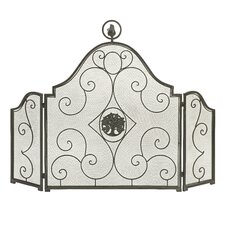 Corvan 3 Panel Iron Firescreen