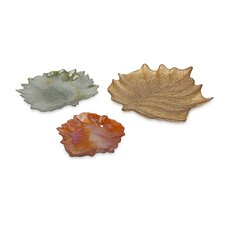 Harvest Leaves Glass Plates (Set of 3)