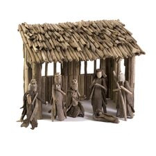 Woodland Driftwood Nativity Set