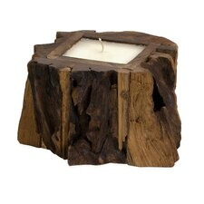 <strong>IMAX</strong> Small Teak Wood Candle