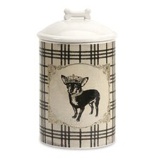 Dog Ceramic Small Canister