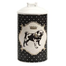 Dog Ceramic Medium Canister