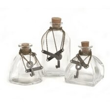 Galata Bottles with Stopper (Set of 3)