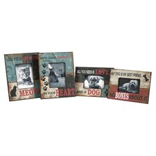 Dog and Cat Picture Frames (Set of 4)