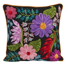 Midnight Floral Cotton Pillow