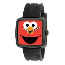 Elmo Rubber Strap Watch in Black