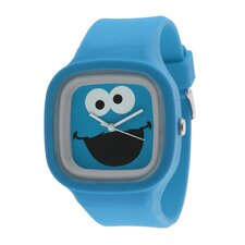 Cookie Monster Jelly Watch in Blue