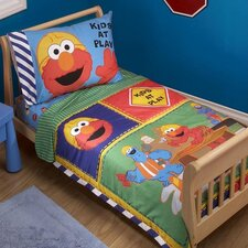 Construction Zone Sesame Street 4 Piece Toddler Set