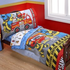 Fire Department 4 Piece Toddler Bedding Set