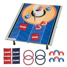 <strong>Franklin Sports</strong> Fold-N-Go Bean Bag Tic Tac Toe Combo Set