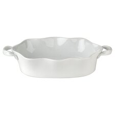 BIA Wavy Bakeware Deep Oval Roaster in White