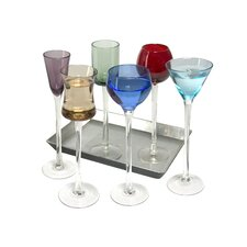 Artland Simplicity 7 Piece Long Stem Liqueur Set with Tray