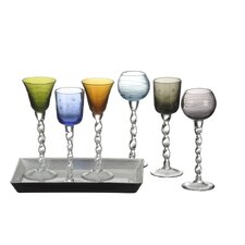 Artland 7 Piece Ribbon Liqueur Set