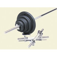110 lbs Standard Threaded Weight Set in Black