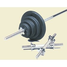 160 lbs Standard Threaded Weight Set in Black