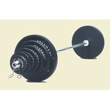 300 lbs olympic Weight Set in Black